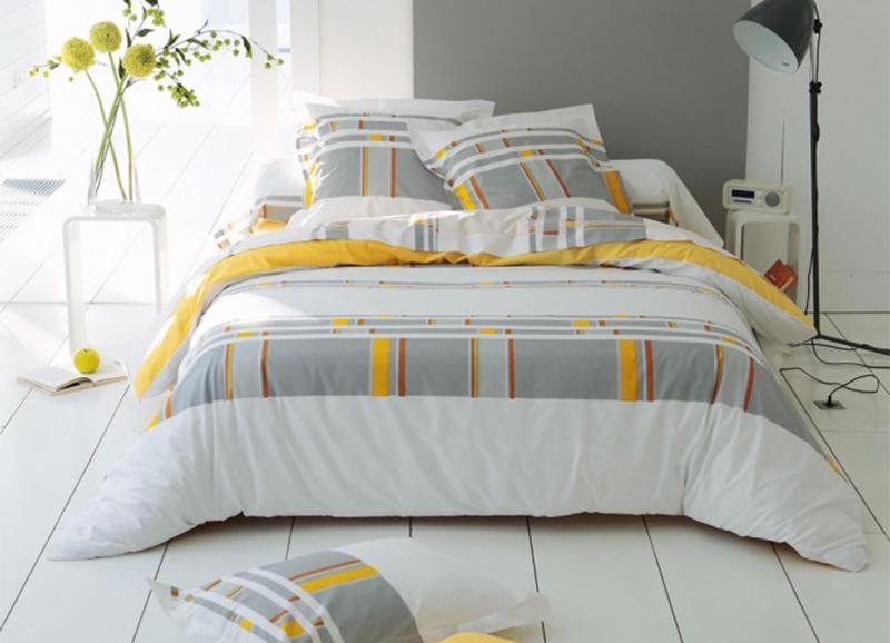 Linge de lit en coton 57 fils - Ligne Verte